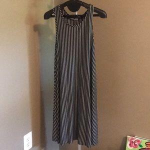Flared stripe dress